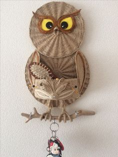 This post was discovered by На Owl Crafts, Burlap Crafts, Paper Crafts, Disney Diy Crafts, Diy Crafts For Home Decor, Burlap Projects, Macrame Projects, Handmade Home, Handmade Crafts
