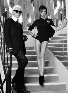 Victoria Beckham and Karl Lagerfeld for Elle France, love victoria