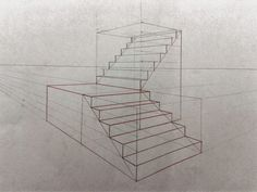 Good morning all ! It& been a while since I have not posted! I come back with a short tutorial on the subject of the stairs. 2 Point Perspective Drawing, Perspective Art, How To Draw Stairs, House Arch Design, Interior Design Presentation, Architecture Concept Drawings, Interior Design Sketches, House Drawing, Stair Drawing