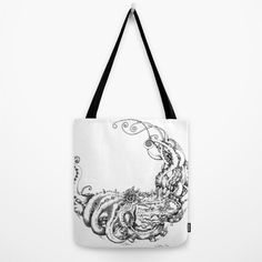 Octopus Wave Tote Bag by CathySuDes | Society6