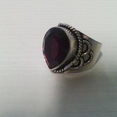 Anello pietra quarzo rosso 925 Sterling silver di Rosasbijoux
