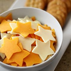 Use cut outs for cheese!