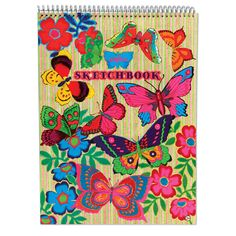 Fluorescent Butterfly Sketchbook | eeBoo