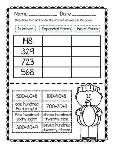 Four Ways to Write a Number (written, expanded, and standard form