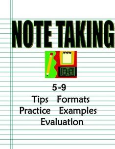 Notetaking How-To Program Strategies, Multiple Formats, Models, Practice Notetaking How-To Program Strategies, Multiple Format Note Taking Strategies, Teacher Resources, Secondary Resources, Middle School Teachers, High School, Middle School English, Study Skills, Teaching Materials, Learning Tools