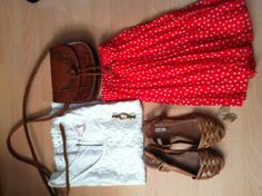 Summer outfit skirt polkadots