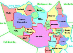 Houston School Districts Map Independent School District(ISD) Map   Diane Moser Properties, Inc