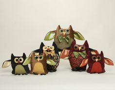 CUTE owls! You can buy these at woofnpoof.com