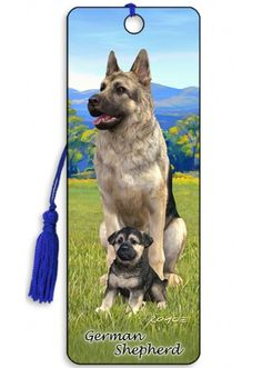 Artgame 3D German Shepherd Bookmark