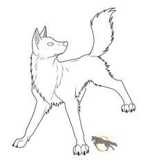 Free Wolf Lineart    flareandicicle.deviantart.com