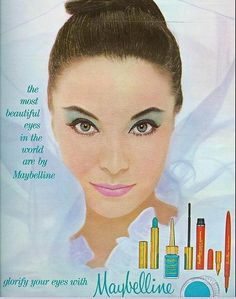 Old ad conveying that makeup is what makes us beautiful. Shouldn't the beauty industry defy this notion and listen to the self esteem crisis so many women are talking about?