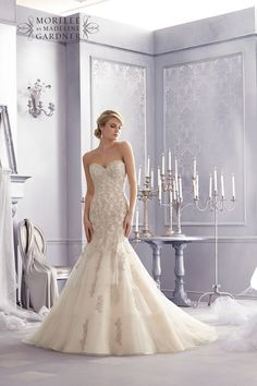 Style 2691 from the Mori Lee Bridal collection for Fall 2014 – check out the rest of the wedding dresses here!
