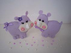 ♥♥♥ Sra. e Sr. Rinoceronte ... by sweetfelt  ideias em feltro, via Flickr