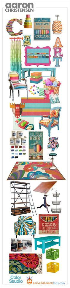 Colorful Craft Room Decor Mood Board