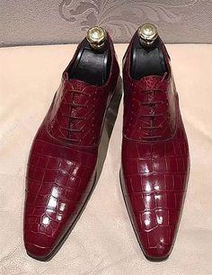 Formal Alligator Business Dress Shoes for Men - Men Dress Shoe - Ideas of Men Dress Shoe Mens Shoes Boots, Leather Dress Shoes, Men's Shoes, Shoe Boots, Sneaker Dress Shoes, Gentleman Shoes, Designer Suits For Men, Unique Shoes, Business Dresses