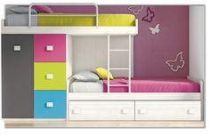 Más modelos de #camas tipo tren, #muebles divertidos y coloridos pensados para compartir con el hermanit@  #CalidadBOOM