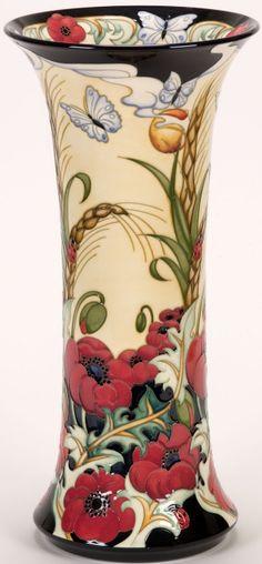 Moorcroft - Exclusive Design Details - Flanders Field - Designer Rachel Bishop