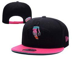 Mens San Antonio Spurs New Era NBA Hardwood Classics HWC Logoman Blackout 9FIFTY Snapback Cap - Black / Pink