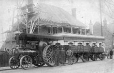 The World's End with traction engine in 1914 Steam Tractor, Vintage Tractors, International Harvester, Edwardian Era, Circuits, Winchester, Motor Car, The Hamptons, Transportation