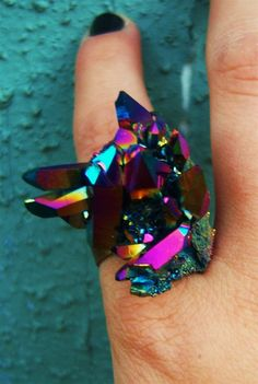 COLORFUL QUARTZ! I would be afraid to wear it though, might break