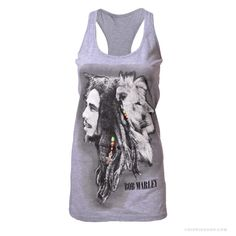 81dfbd80b629aa Bob Marley - Profiles Racer Tank Top on Sale for  19.95 at HippieShop.com  Hippie