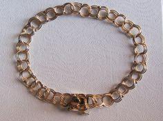 14k Gold Triple Link Chain Bracelet W/ Double by GoldnBeads