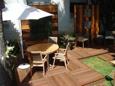 Sombra, descanso, área pra receber amigos. SP Projeto de Marisa Lima paisagismo
