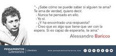 Alessandro Baricco. Sobre saber si alguien te ama.