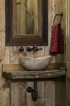 banheiro rustico