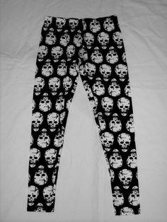Black and White Skull Leggings by VampireVixen13 on eBay - http://www.ebay.com/sch/vampirevixen13/m.html?_nkw=&_armrs=1&_ipg=&_from=