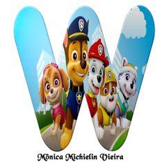 Paw Patrol Decorations, Printable Alphabet Letters, Pow, Lettering, Gabi, Topper, Template, Autumn, Alphabet
