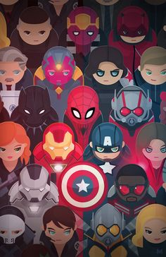 Marvel love!! The best art including majority of the superheroes <3