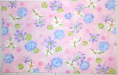 Rose Quartz and Serenity Floral 4pc Placemat by ColdStreamCrafts