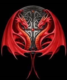 22 ideas for tattoo dragon black anne stokes Dragon Medieval, Celtic Dragon, Celtic Art, Red Dragon, Anne Stokes, Chinese Tattoo Designs, Dragon Tattoo Designs, Dragon Tattoos, Fantasy Kunst