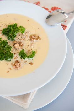 Kohlrabi creamy soup #lunch #homemaedsoup @Cincsor.Transylvania.Guesthouses Risotto, Soup, Lunch, Ethnic Recipes, Gourmet, Kitchens, Eat Lunch, Soups, Lunches