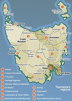 Tasmania Photo: Map of Tasmania. This Photo was uploaded by KangawhoMax Tasmania Road Trip, Tasmania Travel, Western Australia, Australia Travel, Queensland Australia, Brisbane, Melbourne, Sydney, Photos Voyages