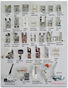 So Sew-Easy | various feet for sewing machine