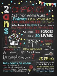 C'est la fête! Petit gâteau et confettis est l'affiche personnalisée toute désignée pour souligner l'anniversaire de votre garçon en couleurs! À noter: l'option Couleurs personnalisées n'est pas offerte pour ce modèle. Aussi disponible en version rose.
