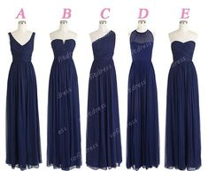 Bridesmaid dresses! I like the idea of different tops to fit each bridesmaid