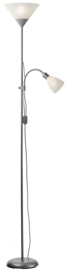 Lampadar Emy Plus 06-027, 1 x E27 + 1 x E14, 1790 mm, alb