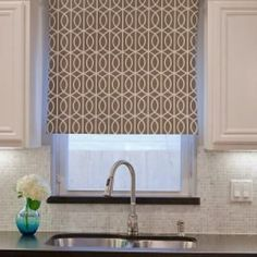 "Loving this ""cheater"" version of a DIY roll-up window shade. LOVE LOVE LOVE this! So many ideas in my head now..."