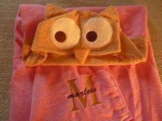 Owl Hoodie Towel by Gracie