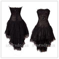Vintage gothic prom dresses black lace tulle by starsdress on etsy Black Corset Dress, Backless Mini Dress, Backless Prom Dresses, Black Wedding Dresses, Gothic Dress, Homecoming Dresses, Corset Dresses, Dress Prom, Formal Dress