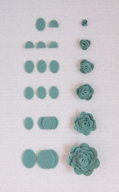 Adorable felt flower tutorial using punches