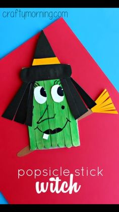 Make some fun Halloween popsicle stick puppets with your kids! We made mini pumpkins and Frankenstein crafts for Halloween! Halloween Art Projects, Halloween Arts And Crafts, Fall Crafts For Kids, Fall Halloween, Holiday Crafts, Kids Crafts, Halloween Decorations, Halloween Party, Halloween Witches