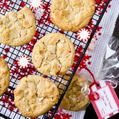 White Chocolate Peppermint Chunk Cookies by foodiebride, via Flickr
