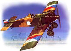 Tiefdecker-Jagdflugzeug AVIA BH-3 im Maßstab 1:72. (http://www.cyram-entertainment.de/shop/products/Modellbau/Militaer/Luftfahrzeuge/Luftfahrt-bis-1939/AVIA-BH-3.html)