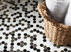 Mosaik Fliesen in Schwarz, Grau und Weiß