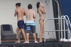 Harry & Kendall on the yacht in St Barts