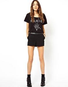 { asos tailored shorts w trim }